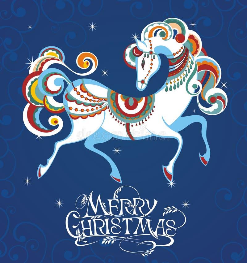 Błękitny koń 2014 ilustracja wektor