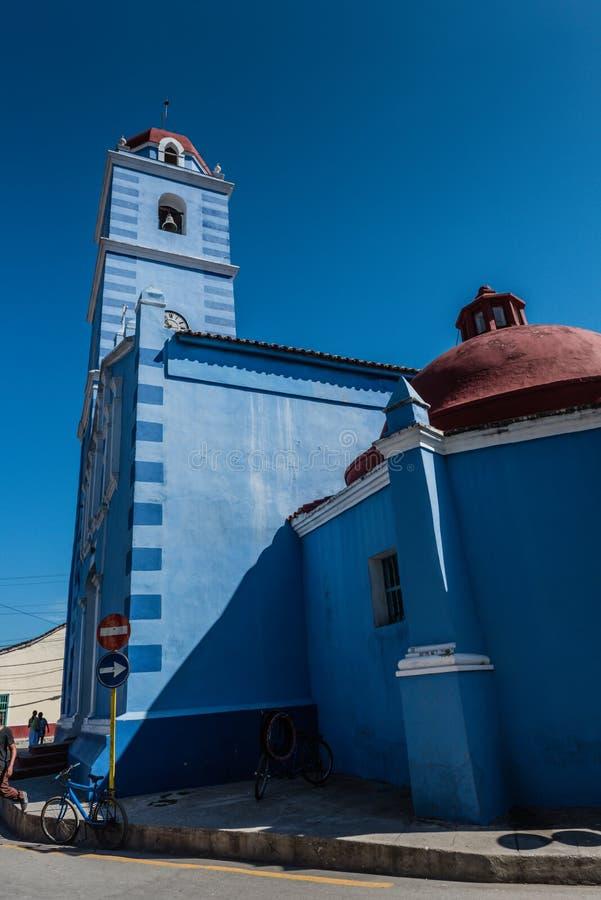 Błękitny kościół zdjęcia royalty free