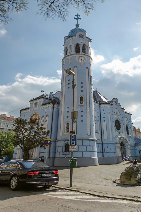 Błękitny kościół obraz stock