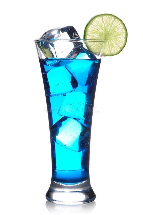 błękitny koktajl Curacao fotografia stock