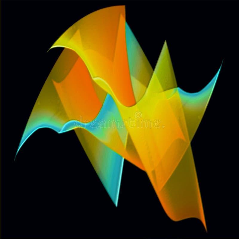 Błękitny kolor z lekkimi promieniami, 3 d skutka tła komputer wytwarzającym wizerunkiem i tapetowym projektem ilustracja wektor