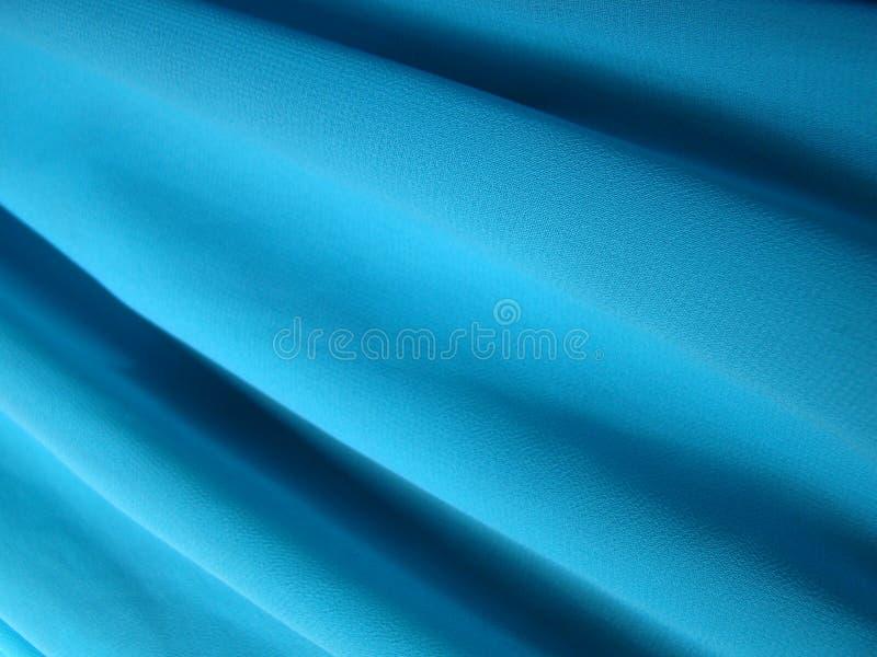 błękitny koloru krepy tkaniny tekstura fotografia stock
