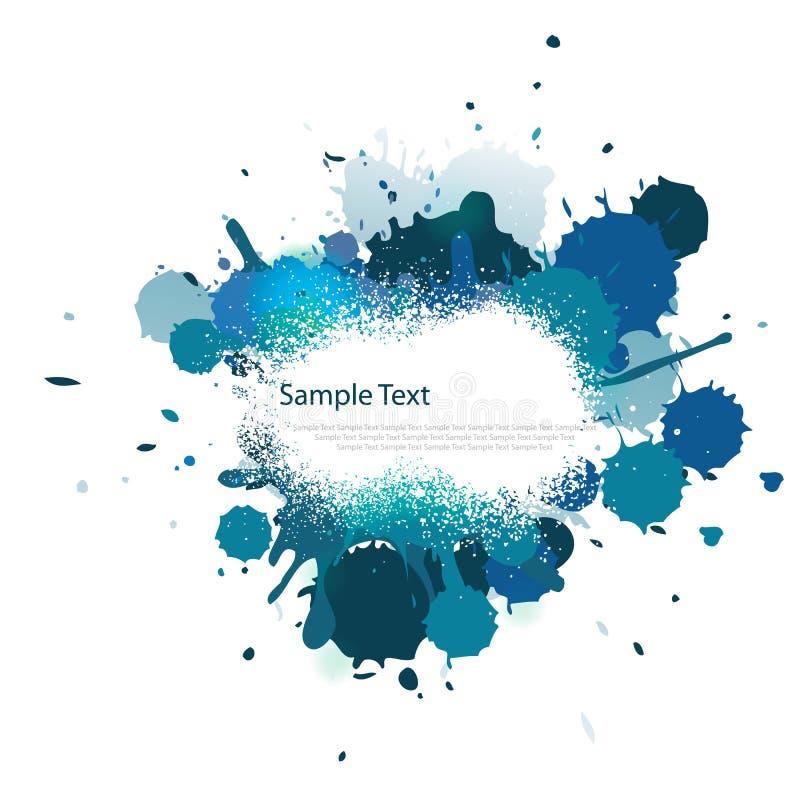 błękitny koloru pluśnięcia brzmienie ilustracja wektor