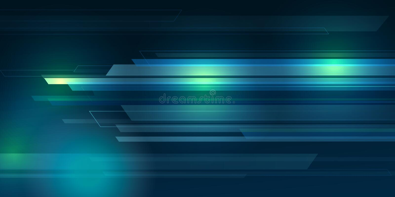 Błękitny koloru tła abstrakt z oświetleniem wykłada cyfrowego pojęcie ilustracja wektor
