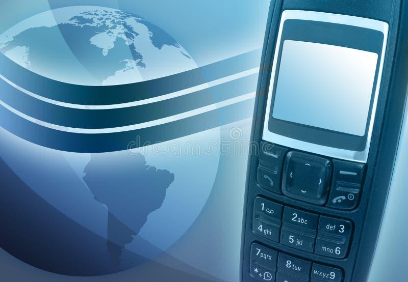 błękitny komórki ziemi telefon royalty ilustracja