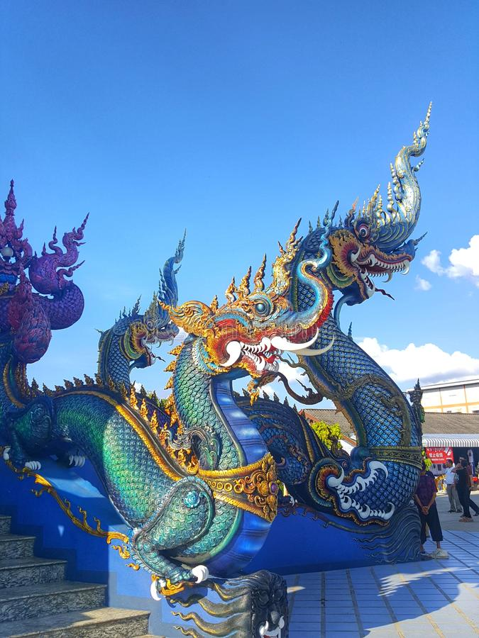 Błękitny królewiątko Nagas fotografia stock