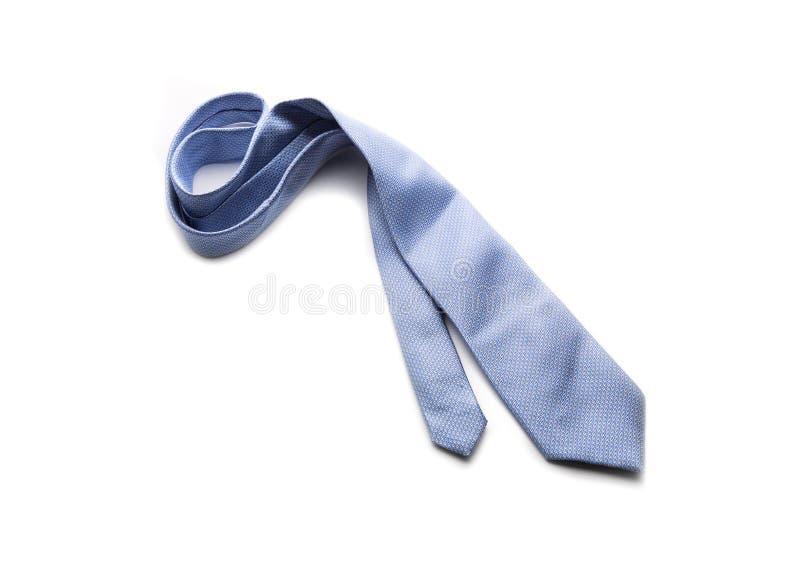 Błękitny krawat na bielu zdjęcie royalty free