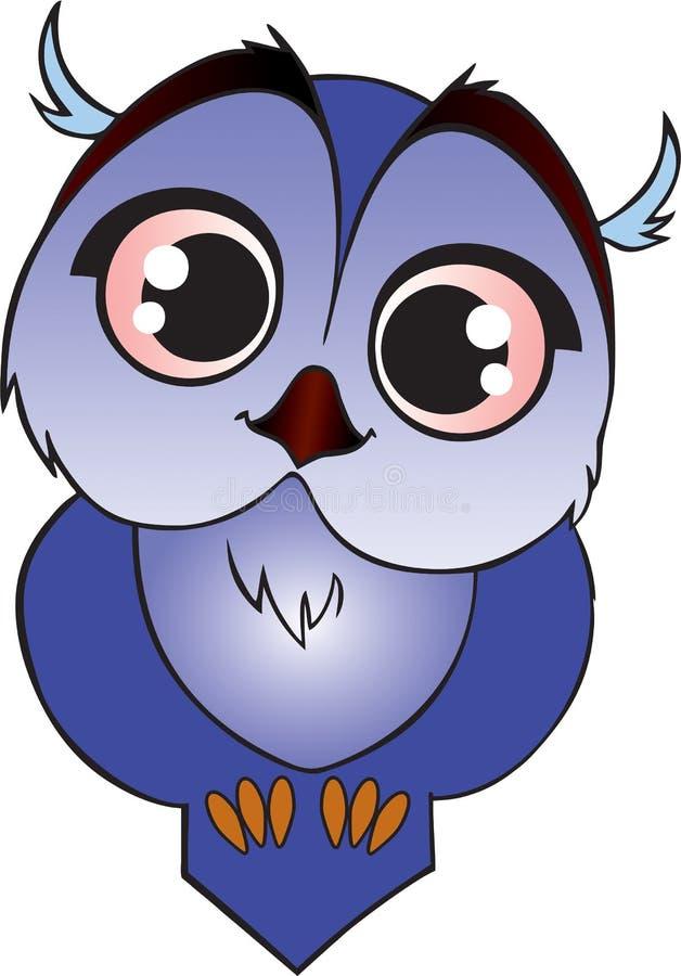 Błękitny kreskówki owlet zdjęcia stock