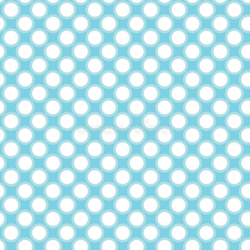 błękitny kropki ilustracja wektor