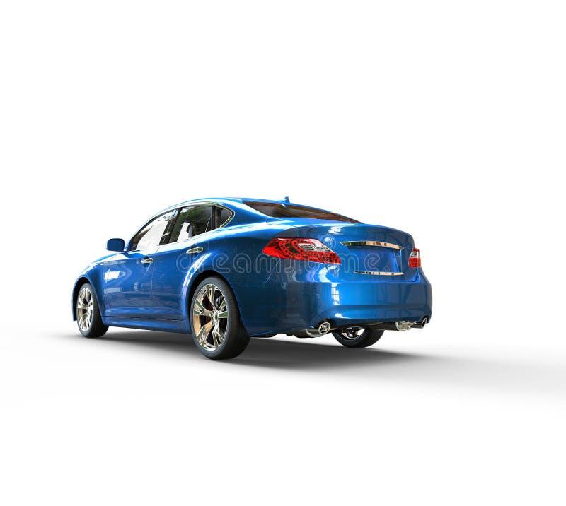 Błękitny Kruszcowy samochodu plecy royalty ilustracja
