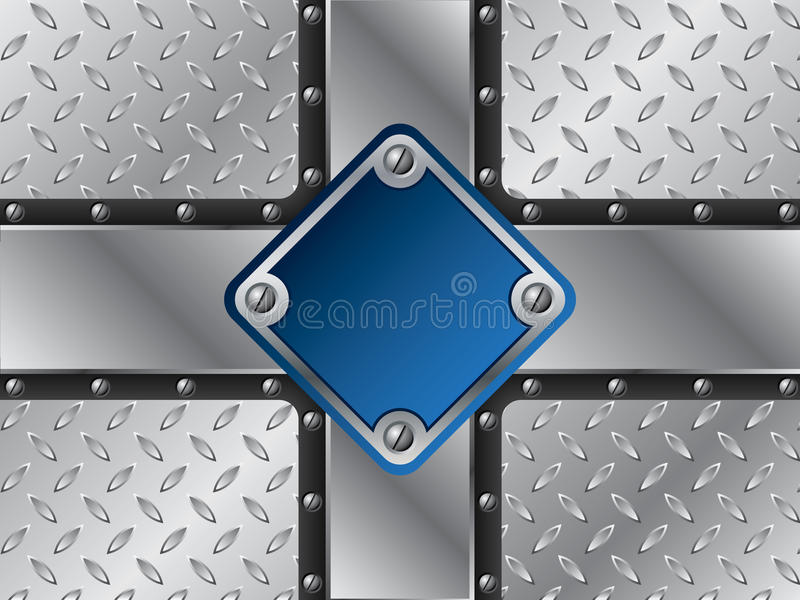 Download Błękitny kruszcowy talerz ilustracja wektor. Ilustracja złożonej z ryzykanctwo - 13333033