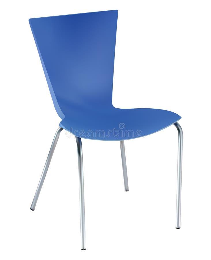 Błękitny krzesło ilustracja wektor