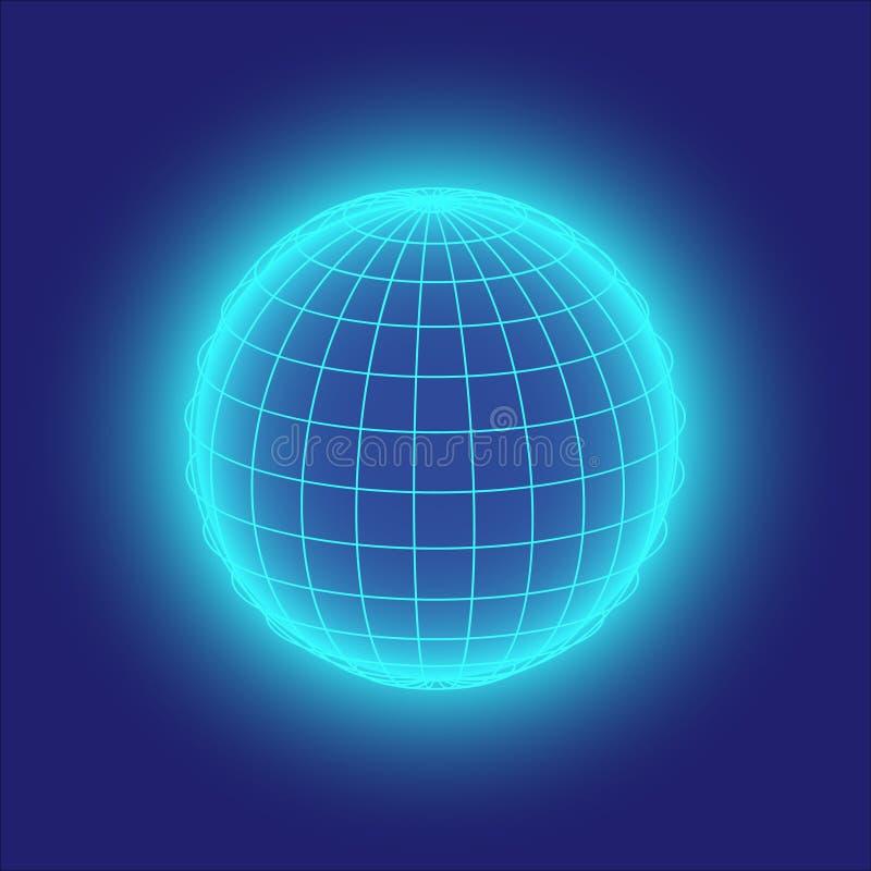 Download Błękitny kula ziemska ilustracja wektor. Ilustracja złożonej z grafika - 13328146
