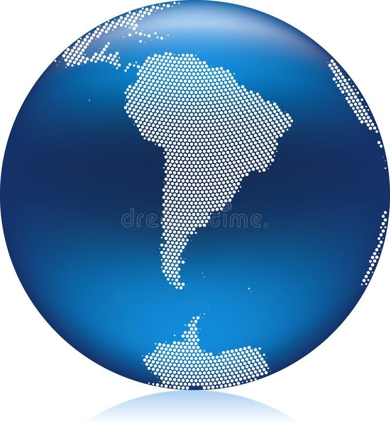 błękitny kula ziemska ilustracja wektor