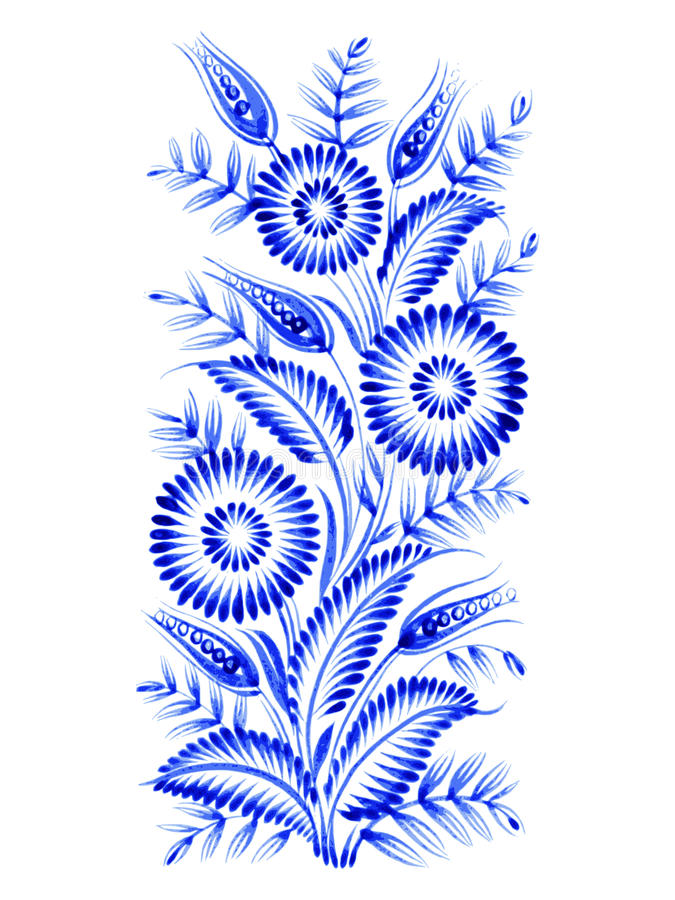 Błękitny kwiatu skład ilustracji