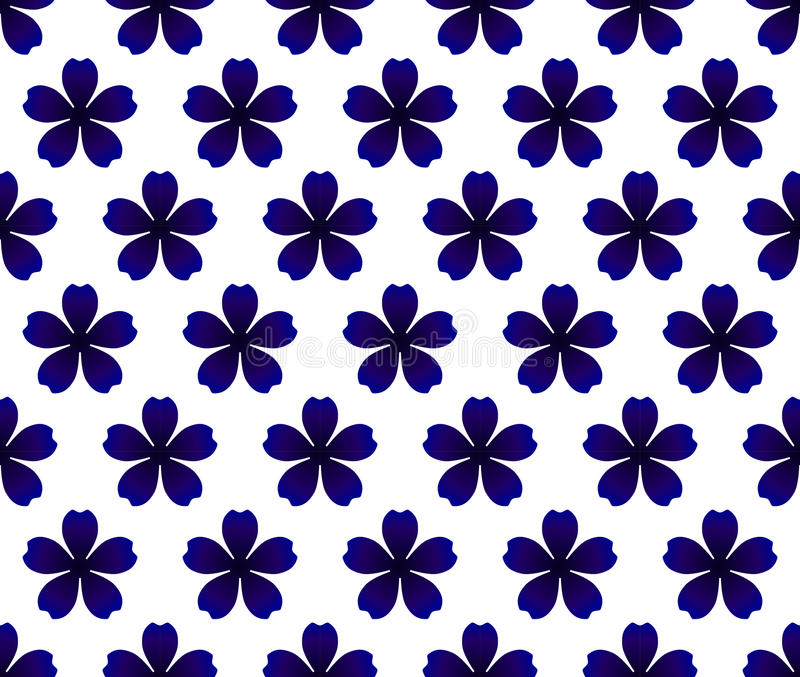 Błękitny kwiatu wzór ilustracja wektor