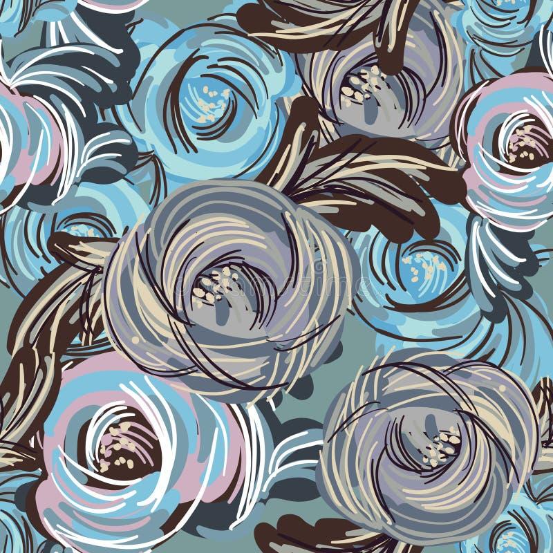błękitny kwiaty ilustracji