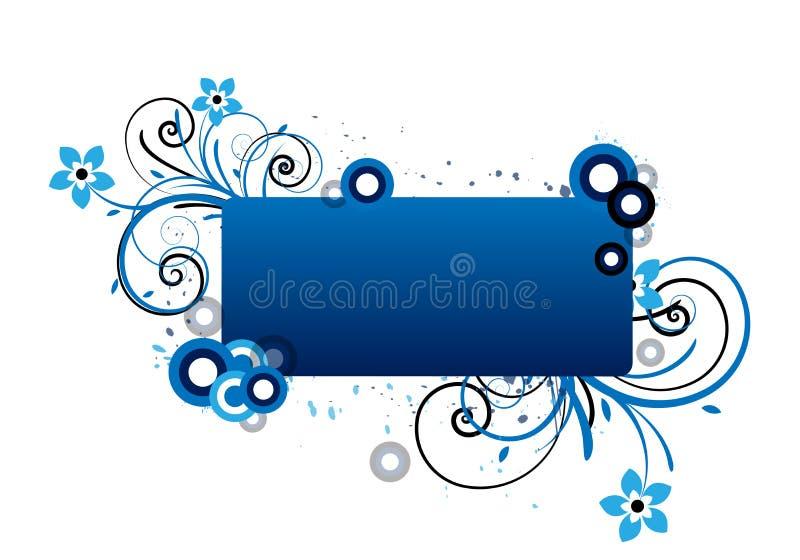 błękitny kwiecista rama royalty ilustracja