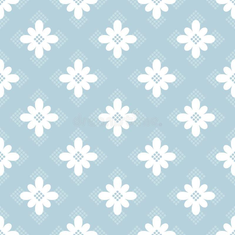 błękitny kwiecisty deseniowy bezszwowy ilustracja wektor