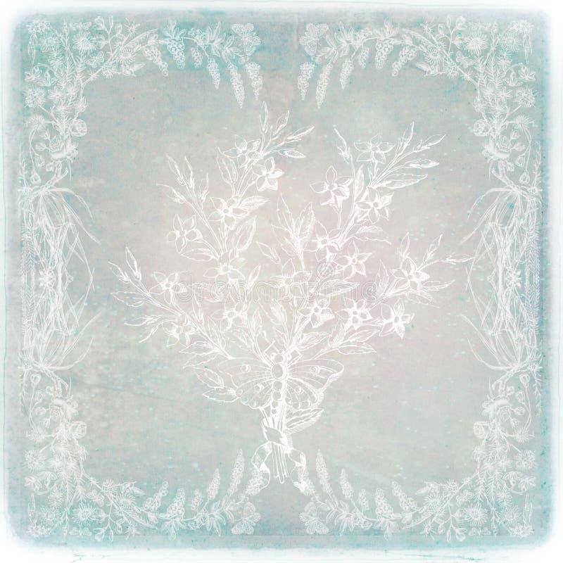 błękitny kwiecisty mistyczny ilustracja wektor