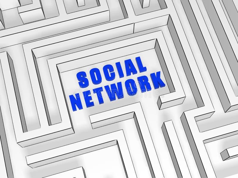 błękitny labityntu sieci socjalny royalty ilustracja