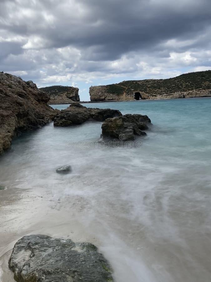 Błękitny Lagun Malta zdjęcia royalty free