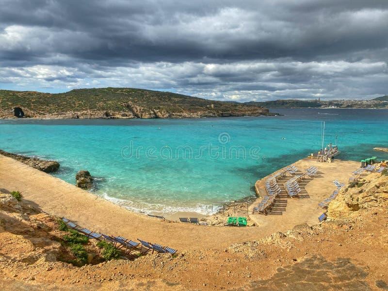 Błękitny Lagun Malta obraz royalty free