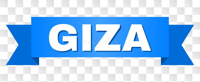 Błękitny lampas z GIZA podpisem ilustracji