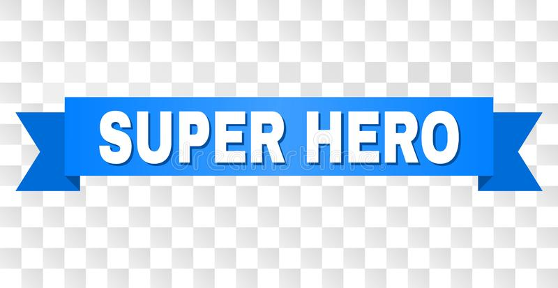 Błękitny lampas z SUPER bohatera tekstem royalty ilustracja