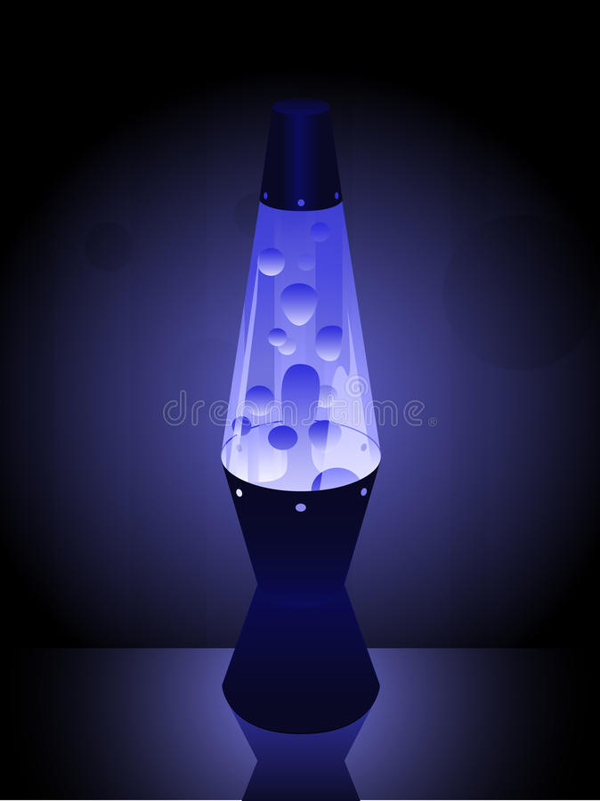błękitny lavalamp ilustracja wektor