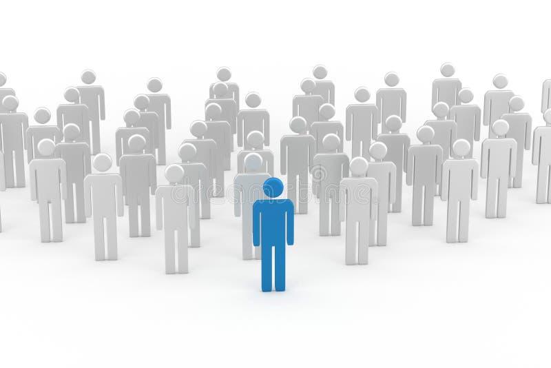 Błękitny lidera mężczyzna ilustracja wektor
