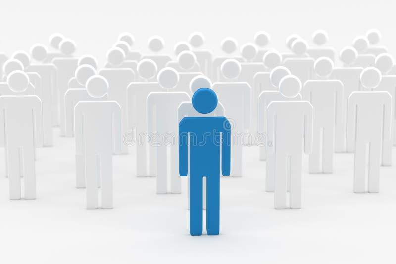 Błękitny lidera mężczyzna ilustracji