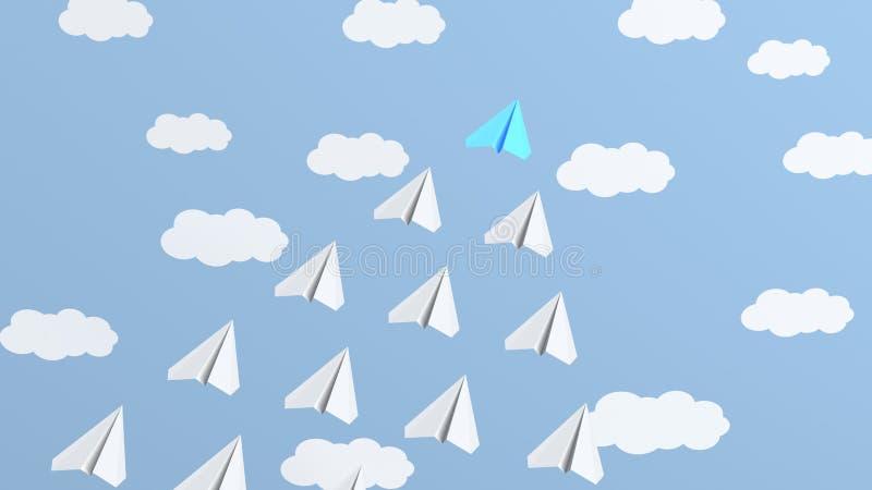 Błękitny lidera samolot ilustracja wektor