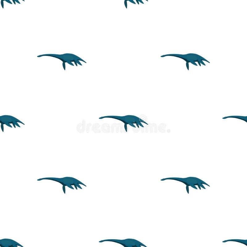 Błękitny Loch ness potwór Potwór jeziorny Loch ness w Szkocja ilustracja wektor