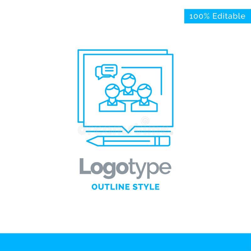 Błękitny logo projekt dla analizy, argument, biznes, przekonuje, deb ilustracja wektor