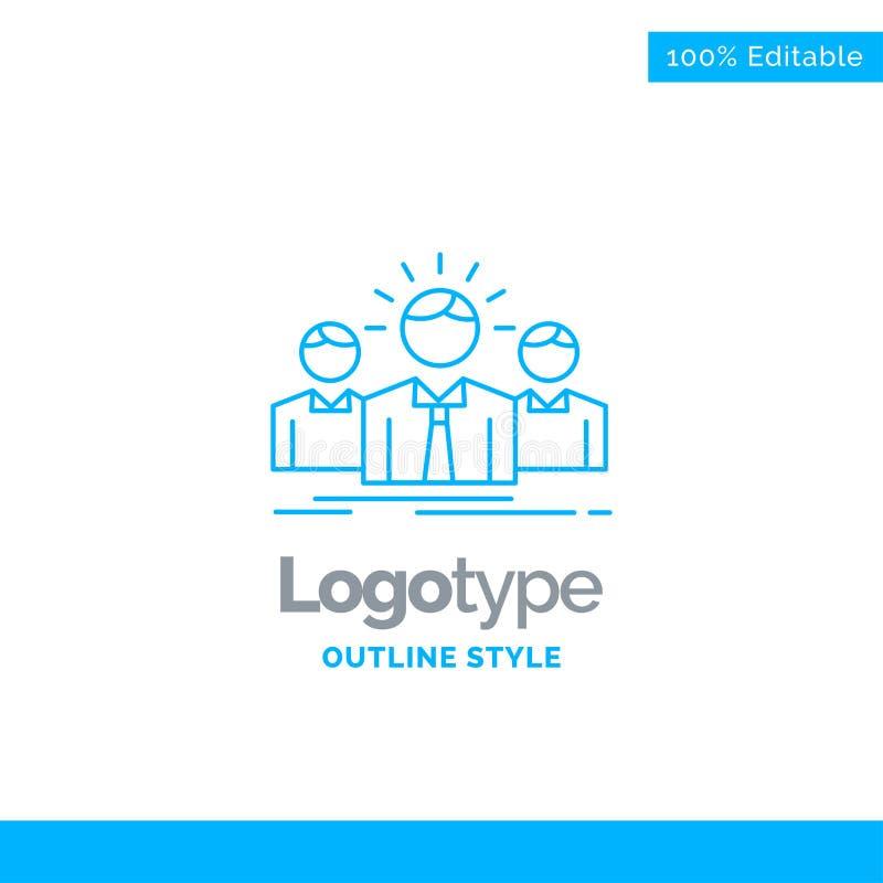 Błękitny logo projekt dla biznesu, kariera, pracownik, przedsiębiorca, l royalty ilustracja