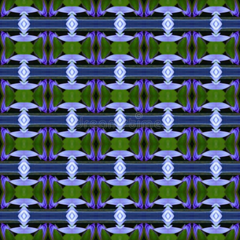 Błękitny Lotus bezszwowy royalty ilustracja