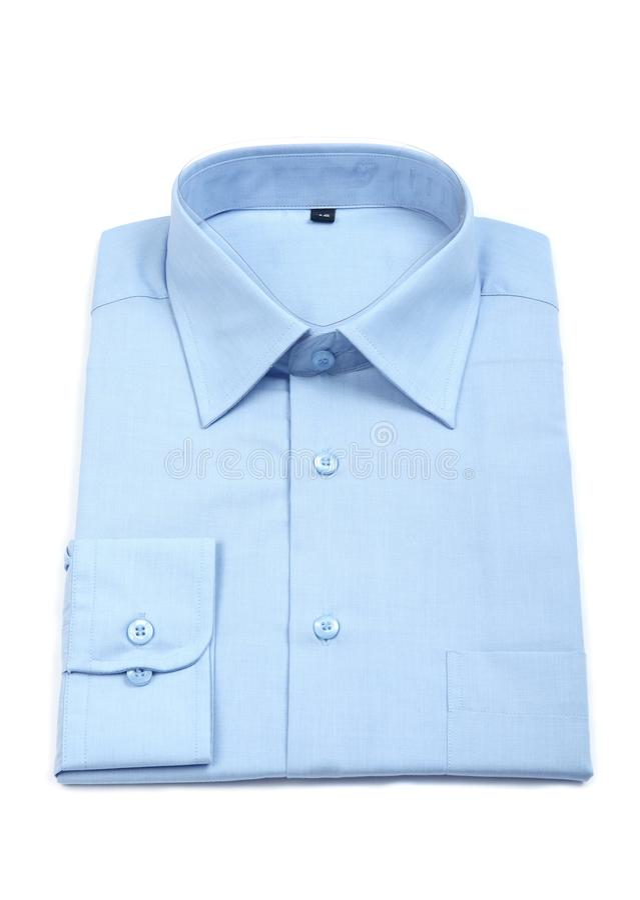błękitny mężczyzna nowa s koszula zdjęcia royalty free