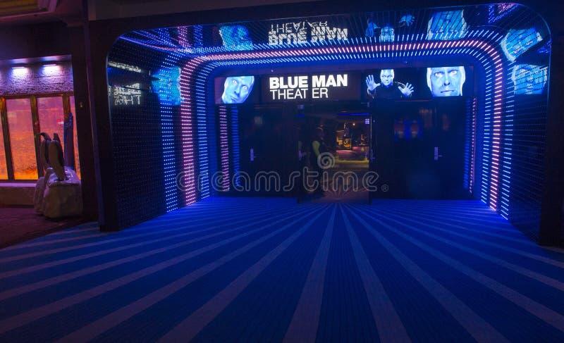 Błękitny mężczyzna teatr zdjęcia royalty free