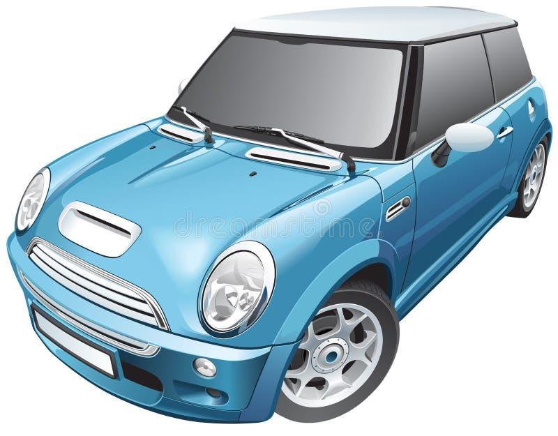 Błękitny mały samochód royalty ilustracja
