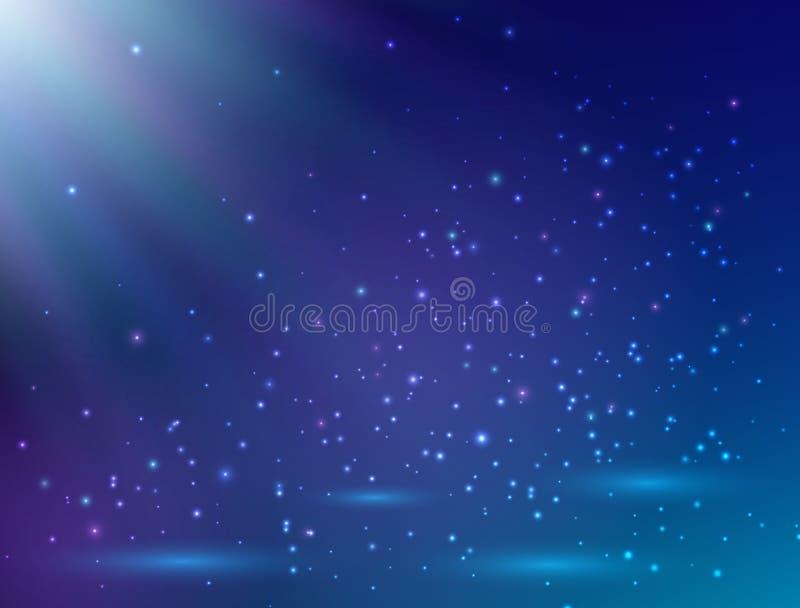 Błękitny magii światła tło Magiczny tło również zwrócić corel ilustracji wektora royalty ilustracja