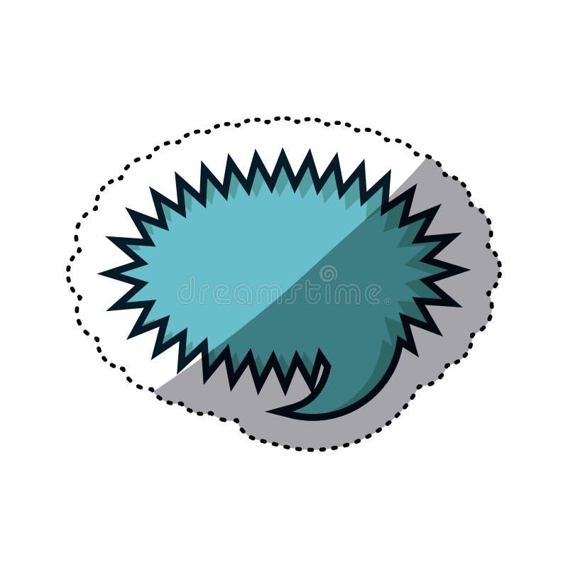 błękitny majcher zaokrąglający callout wrzask dla dialog ilustracja wektor