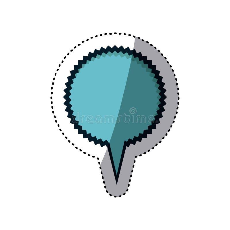błękitny majcheru okręgu kształta callout wrzask dla dialog royalty ilustracja