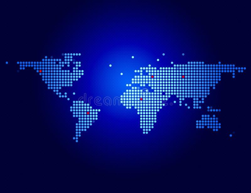 błękitny mapa ilustracji