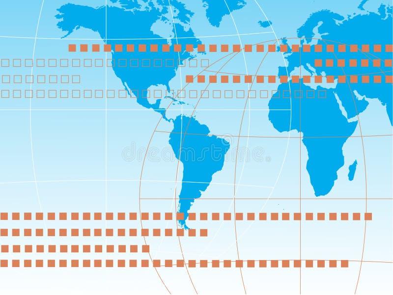 błękitny mapa royalty ilustracja