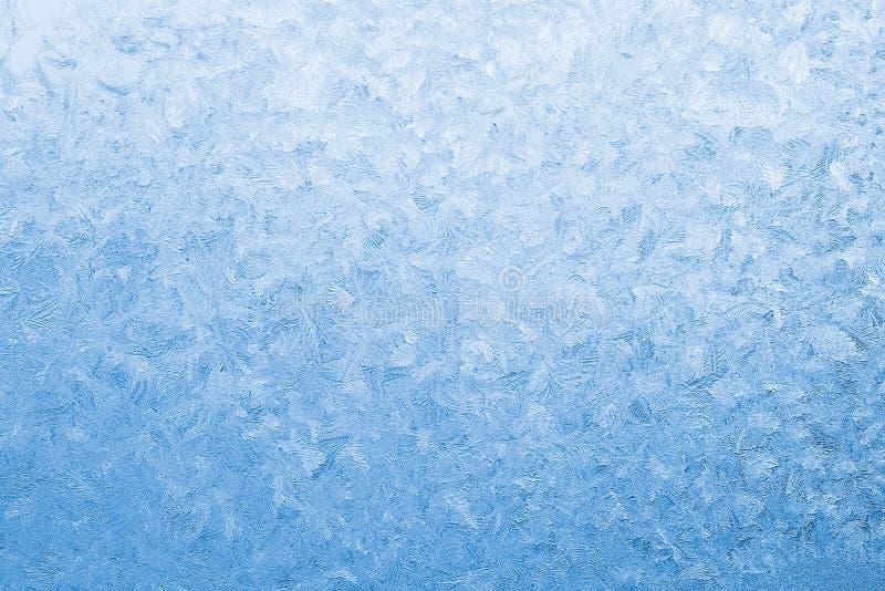 błękitny marznący szkła światła okno obrazy royalty free