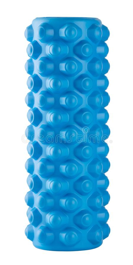 Błękitny masażu rolownik zdjęcia stock