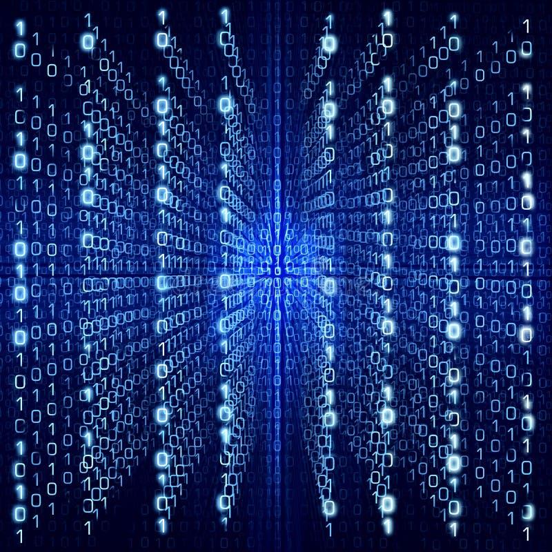 Błękitny Matrycowy Abstrakcjonistyczny Cyfrowego tło - duży rozmiar fotografia royalty free