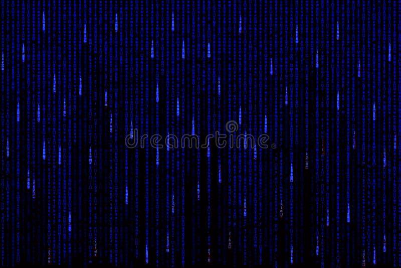 Błękitny matrycowy tło komputer wytwarzający ilustracja wektor