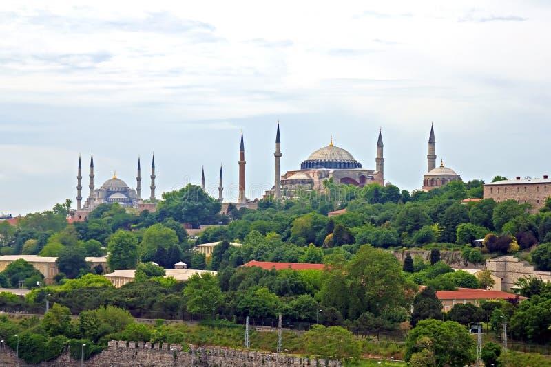 Błękitny Meczet i Hagia Sophia w Istanbuł zdjęcia royalty free